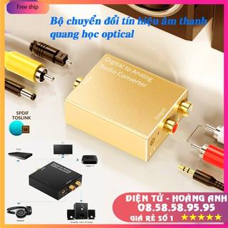 Bộ chuyển đổi tín hiệu âm thanh quang học Optical ra audio AV, tặng kèm dây nguồn và dây quang 1m
