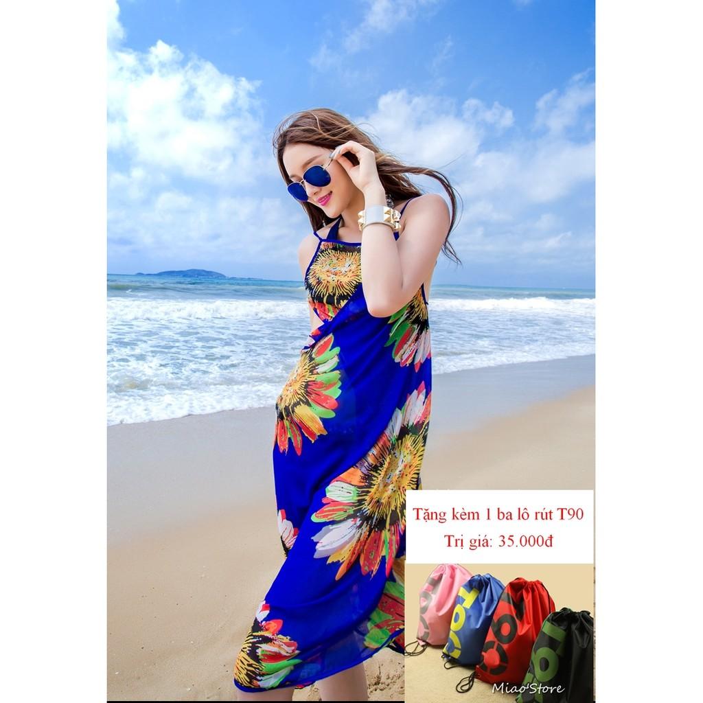Khăn choàng sarong đi biển tặng kèm 1 balo rút T90 - 2921391 , 207132525 , 322_207132525 , 99000 , Khan-choang-sarong-di-bien-tang-kem-1-balo-rut-T90-322_207132525 , shopee.vn , Khăn choàng sarong đi biển tặng kèm 1 balo rút T90