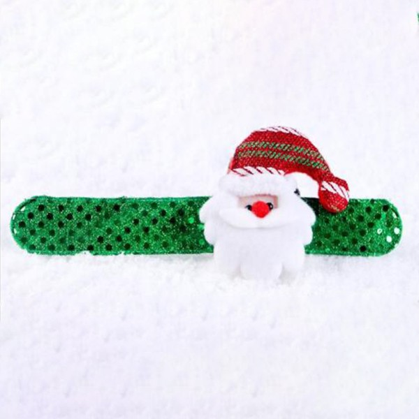 Christmas Ornament Decorations Hand Ring Vivid Color Circle Pat Bracelet
