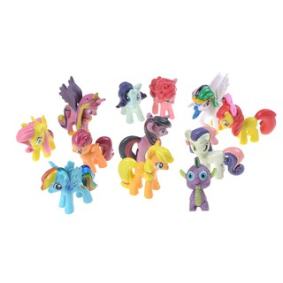 ▲▲12pcs Unicorn+Rainbow Dash Horse Model Action Figure Toys For Children Christmas Gift