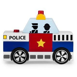 Đồ chơi gỗ Winwintoys lắp ráp xe cảnh sát 60292 (C581)