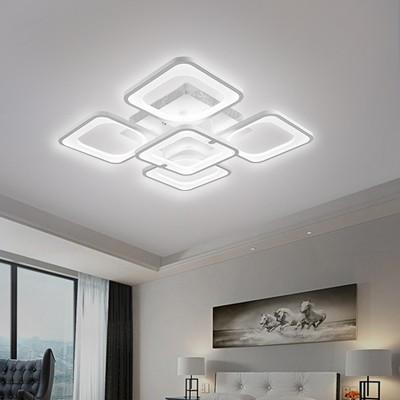 Đèn trần LED - đèn ốp trần - đèn trần trang trí 5 cánh vuông hiện đại SM 1588