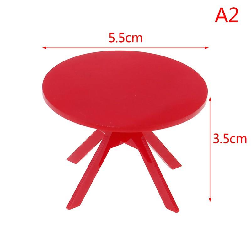 ★ƯU ĐÃI ★1/12 Dollhouse Miniature Furniture Table for kitchen Bedroom