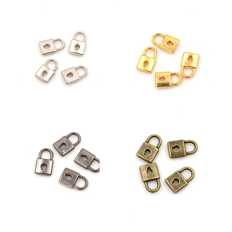 4pcs Dollhouse Miniature Door Lock Retro Metal DIY Accessories