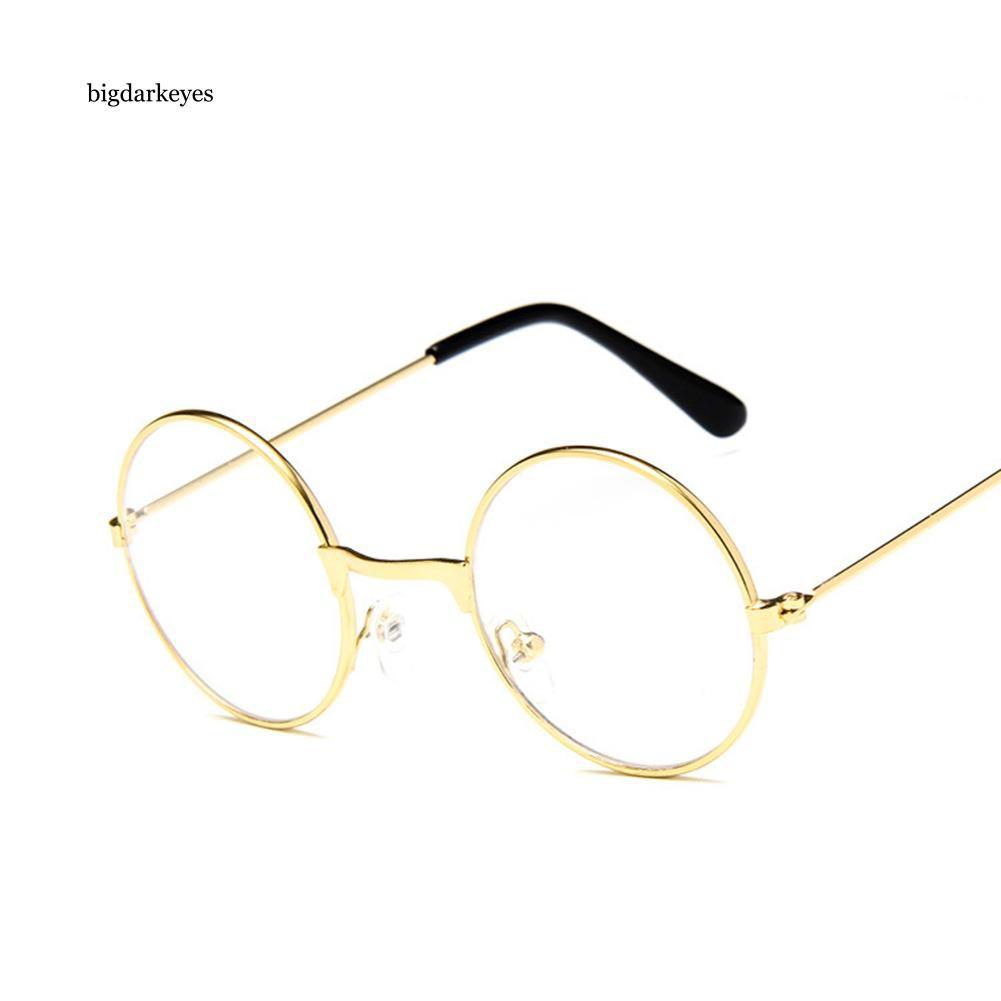 BDK Vintage Round Metal Frame Resin Lens Kids Eye Glasses Photography Studio Prop