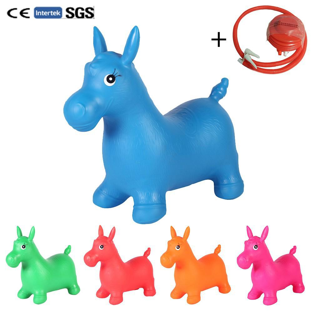 Thickened Ordinary Baby Toys Inflatable Bouncing Horse Bouncer Seat
