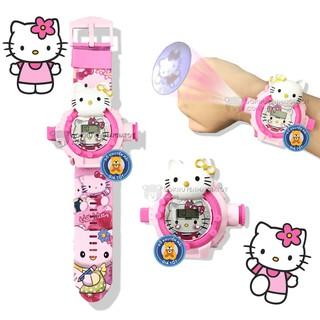 Đồng hồ chiếu hình 3d mô hình nhân vật mèo hồng bằng nhựa cho bé gái 777-136B- Đồ khuyến mãi giá tốt