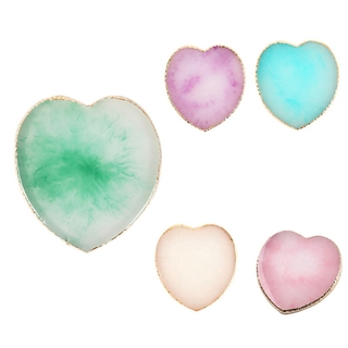 Resin Art Palette Art Painting Gel Palette Manicure Tool Holder Drawing Color Palette Green
