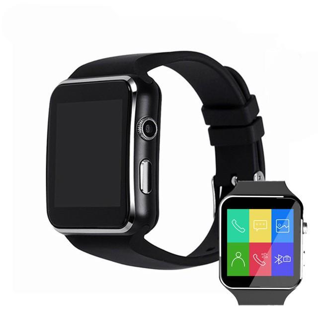 Bộ đồng hồ thông minh X6 màn hình cảm ứng có Bluetooth hỗ trợ thẻ SIM