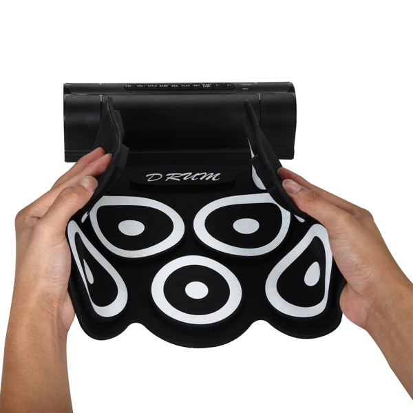 Portable Roll-Up Foldable Electronic Drum Kit with USB Cable Foot Pedals