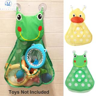 L1 Home Decor Animal Duck Frog Suction Cups Kids Toy Bath Toys Mesh Bag