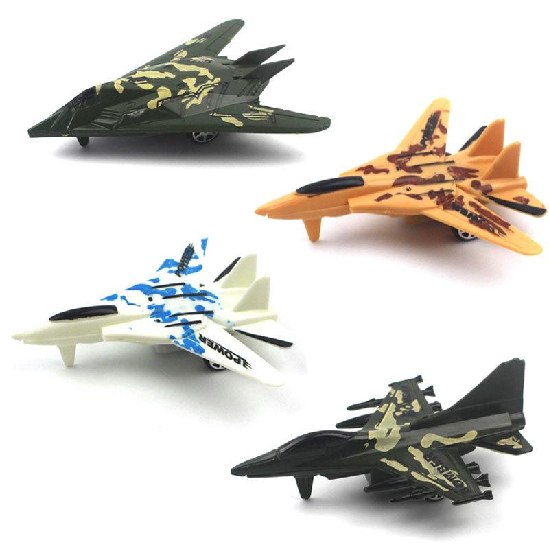 Children's Plastic Small Toy Puzzle Pull Back Aircraft Model