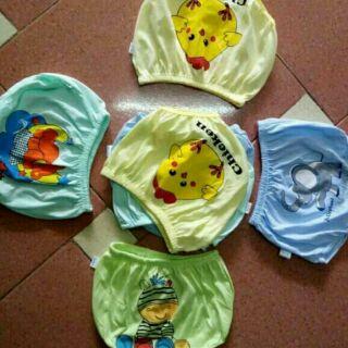 Set 10 Quần chip cotton cho bé yêu, quần chip in mông mềm mịn