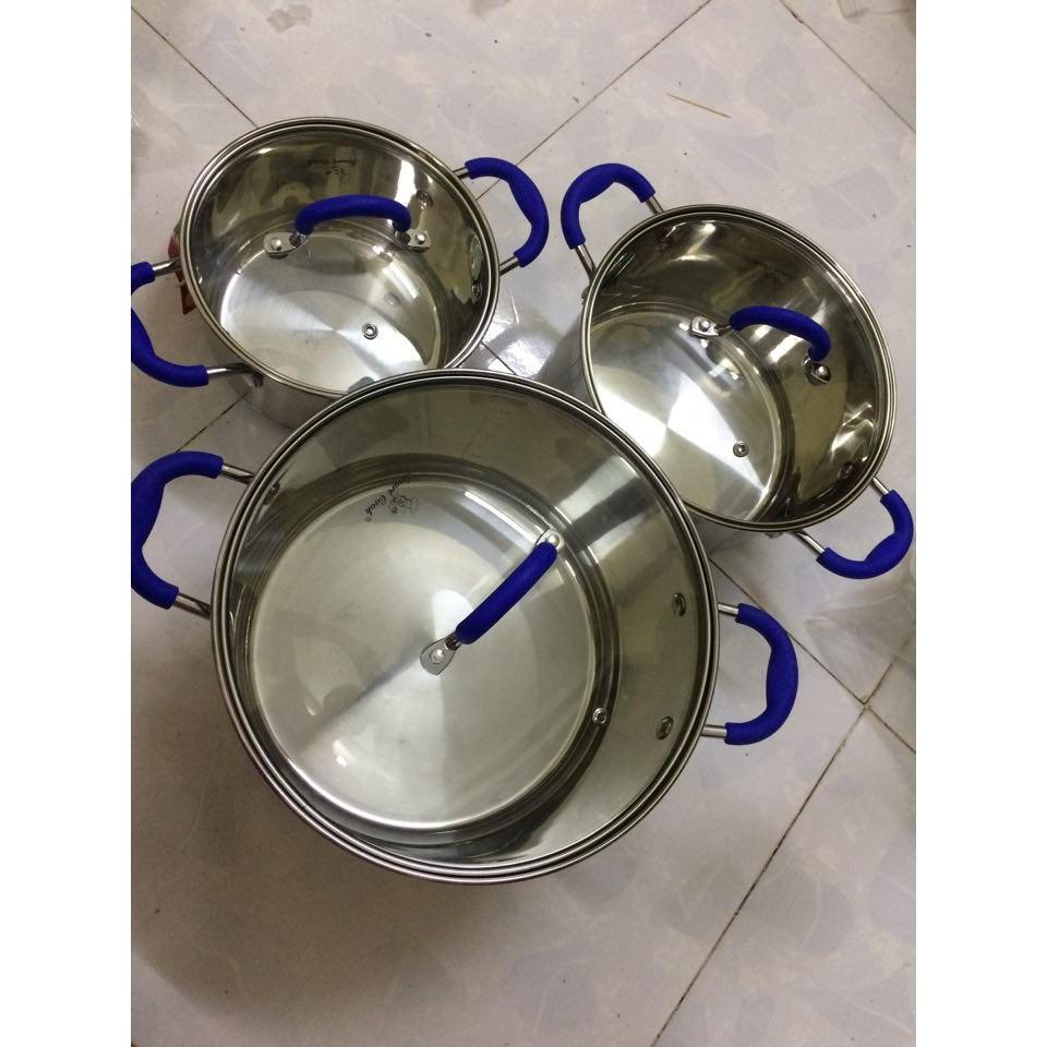 Bộ nồi inox 5 lớp đáy Elmich Smartcook 5961 Bộ nồi ELMICH 5 đáy -Smartcook  16 -20 -24cm