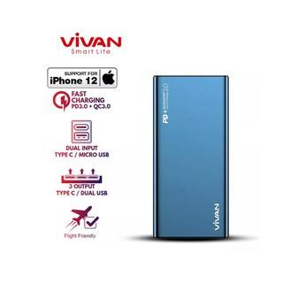 Pin Sạc Dự Phòng 10000mAh VIVAN VPB-F10S 18W Sạc Nhanh Chuẩn PD QC 3.0 - 2 Input 3 Output thumbnail