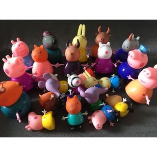 Mô hình 25 nhân vật hoạt hình Peppa pig