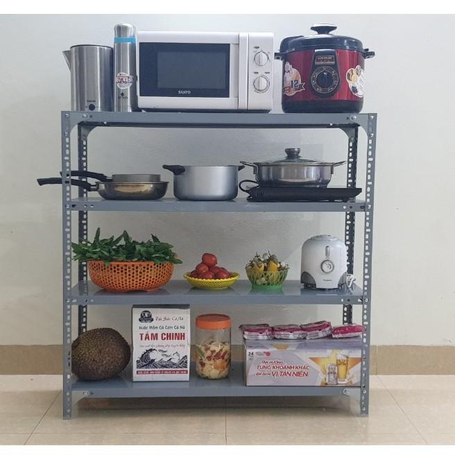 Giá kệ nhà bếp đa năng 4 tầng để rau củ quả, bát đũa xong nồi, lò vi sóng, bếp từ tháo lắp đễ dàng độ bền 10 năm