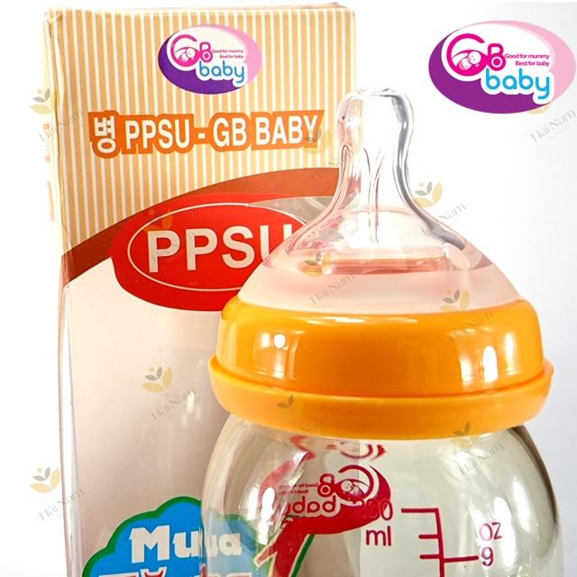 Bình sữa GB- Baby 120ml cổ hẹp cho bé