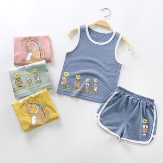 Set bộ quần áo ba lỗ cho bé trai bé gái ( từ 1 - 8 tuổi) VEMZKIDS hình 4 mẫu thumbnail