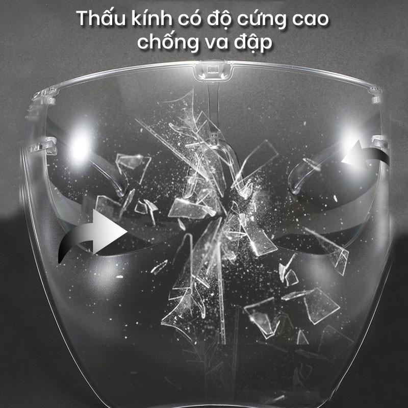 Kính Chống Giọt Bắn Phòng Dịch FACE SHIELD Kính bảo hộ che hết mặt AK033 - Aoron