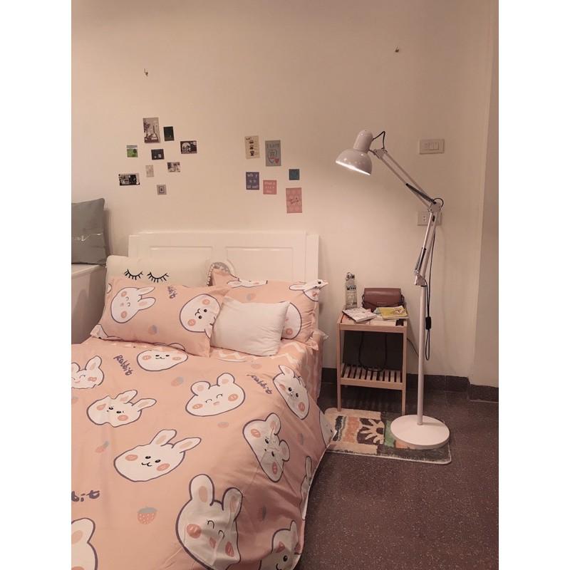 POLY Thỏ Hồng Ziczac -  bộ vỏ chăn ga giường