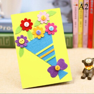 SUN55❤❤DIY Greeting card toy children DIY art craft kit birthday xmas gift