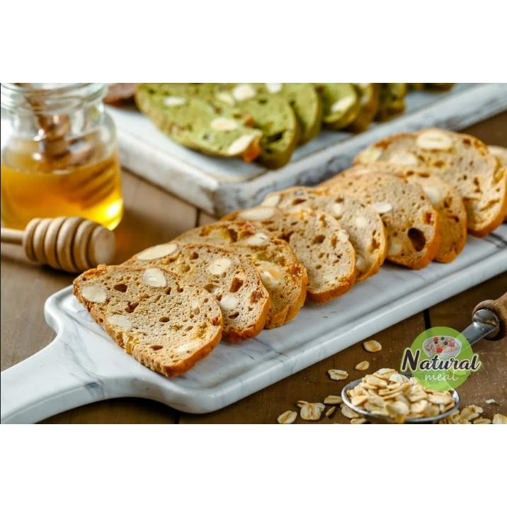 Bánh ăn kiêng Biscotti vị vani, bánh giảm cân nguyên cám - B01