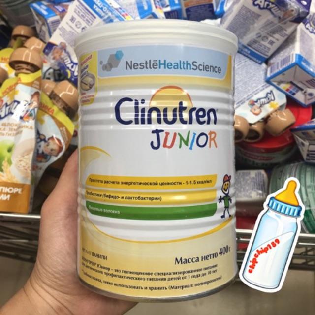 Sữa béo Clinutren Junior 400gr - hàng xách tay Nga ( date2022)
