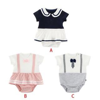 Áo liền quần ngắn tay xinh xắn cho trẻ sơ sinh