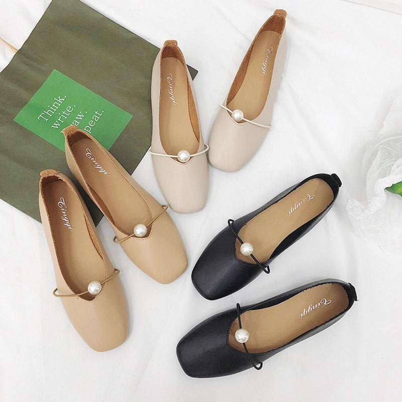 Giày bệt da nữ êm chân giày nữ