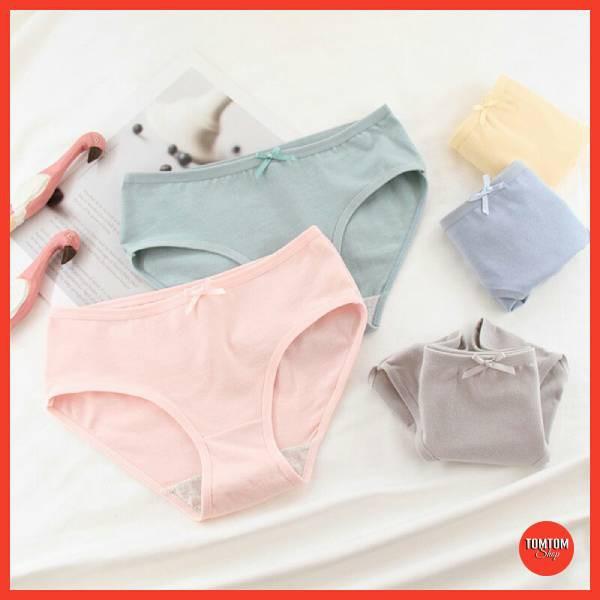 Quần Lót Nữ Cotton màu trơn mềm mịn nâng mông kháng khuẩn tôn dáng QL02 | BigBuy360