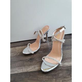 giày cao gót sandal guốc nữ dây chéo