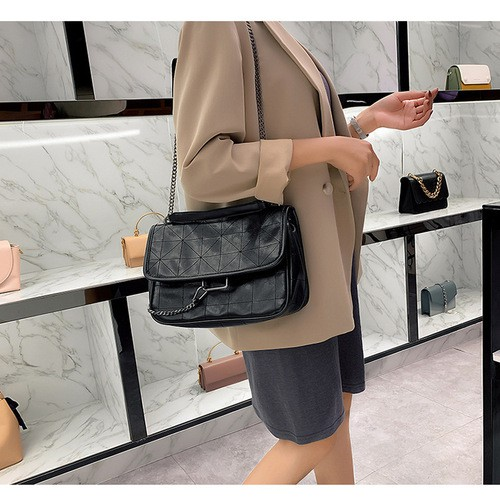 Túi xách nữ đeo chéo da mềm công sở cao cấp full tag, túi giấy (ảnh thật)
