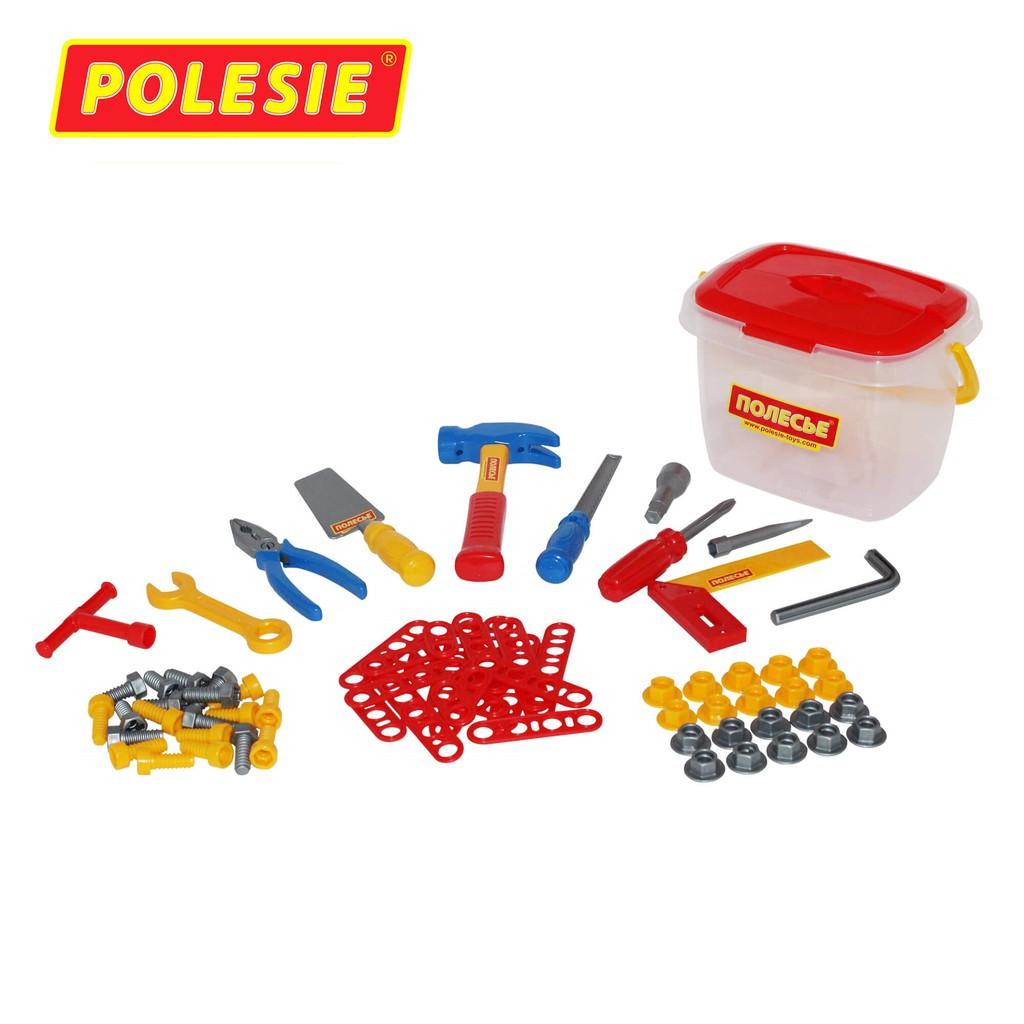 Hộp đồ chơi dụng cụ kỹ thuật 72 chi tiết – Polesie Toys