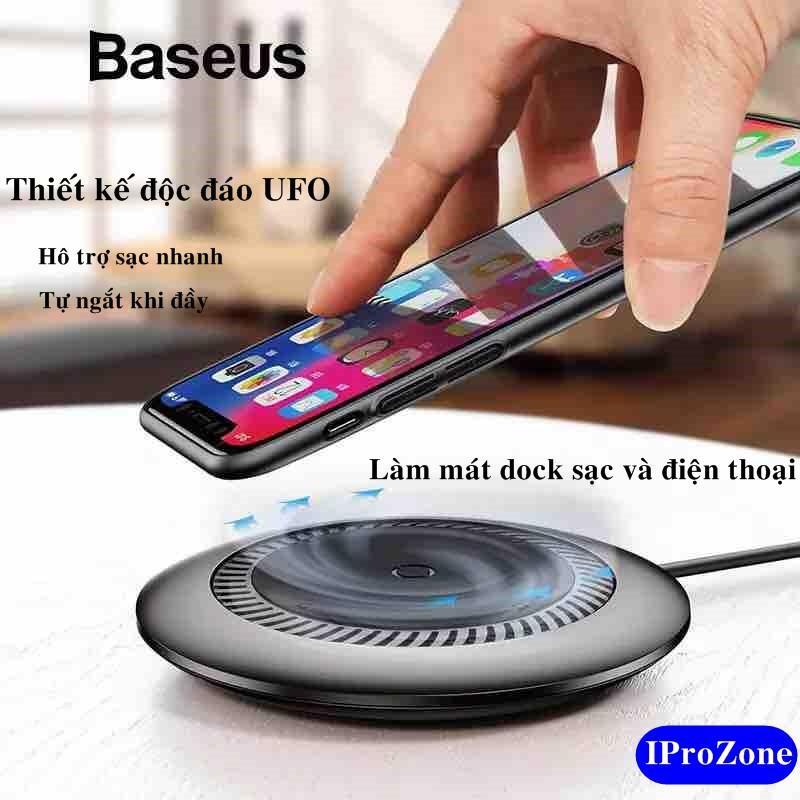 (Dock) Đế sạc không dây kèm quạt tản nhiệt cao cấp Baseus Whirlwind Desktop