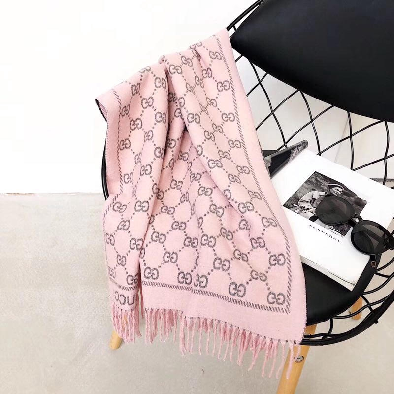Gucci cashmere double-sided scarf multi-color optional scarf