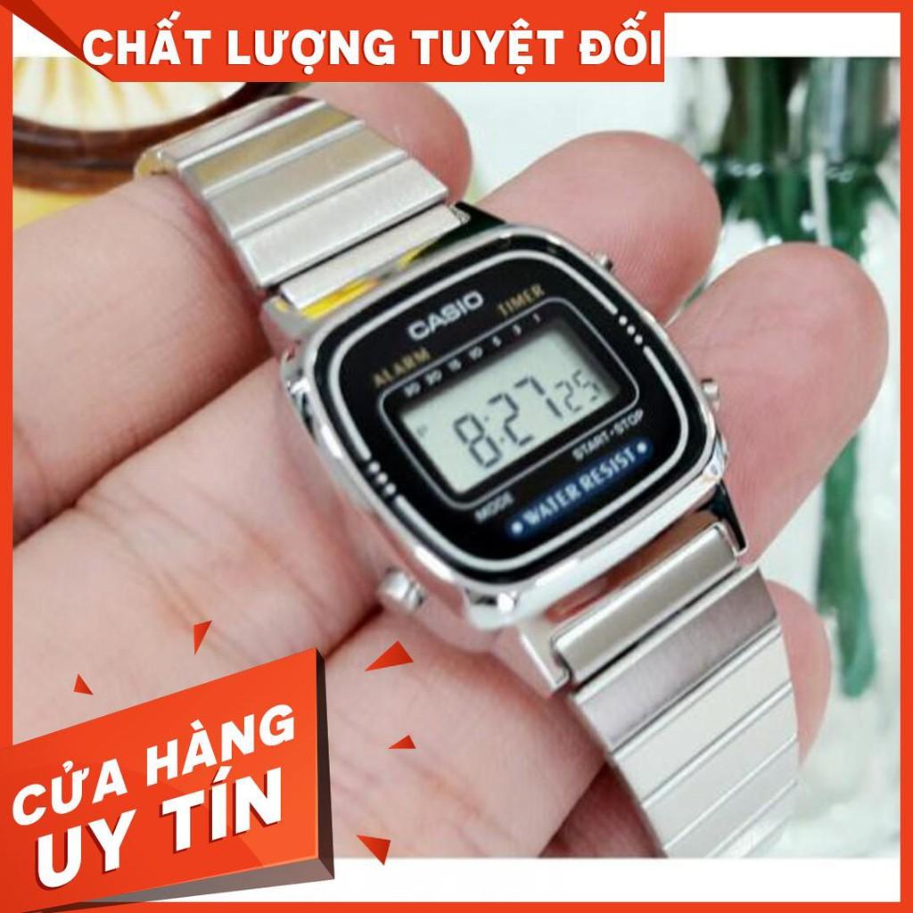HOT Đồng Hồ Nữ CASIO STANDARD LA670WA-1DF Điện tử - Dây kim loại chính hãng