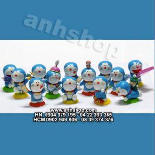 Bộ 12 mô hình Doremon và bảo bối cực yêu Doraemon