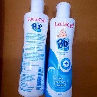 (mẫu mới 2020)Tắm rôm sảy LACTACYD BB 250ml