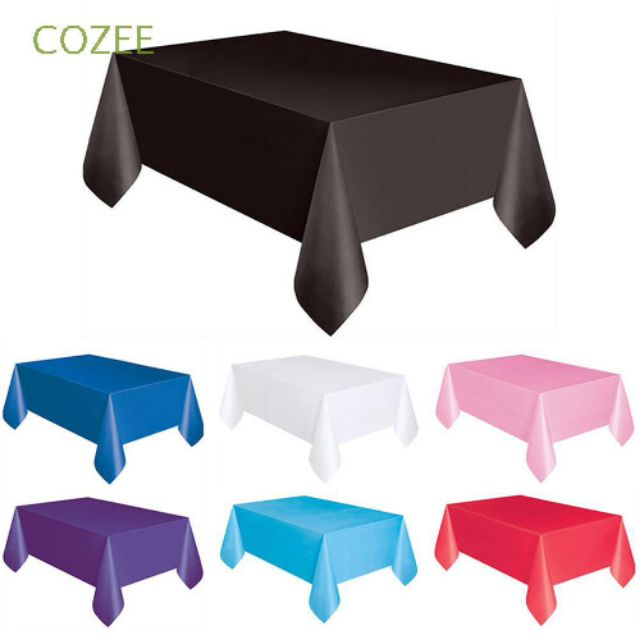 Khăn trải bàn vải thun mịn trang trí tiệc party KT 1.6m×2m có nhiều màu lựa chọn