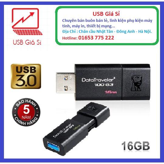 USB Kingston DT100G3 USB 3.0 16GB - BH 12 tháng