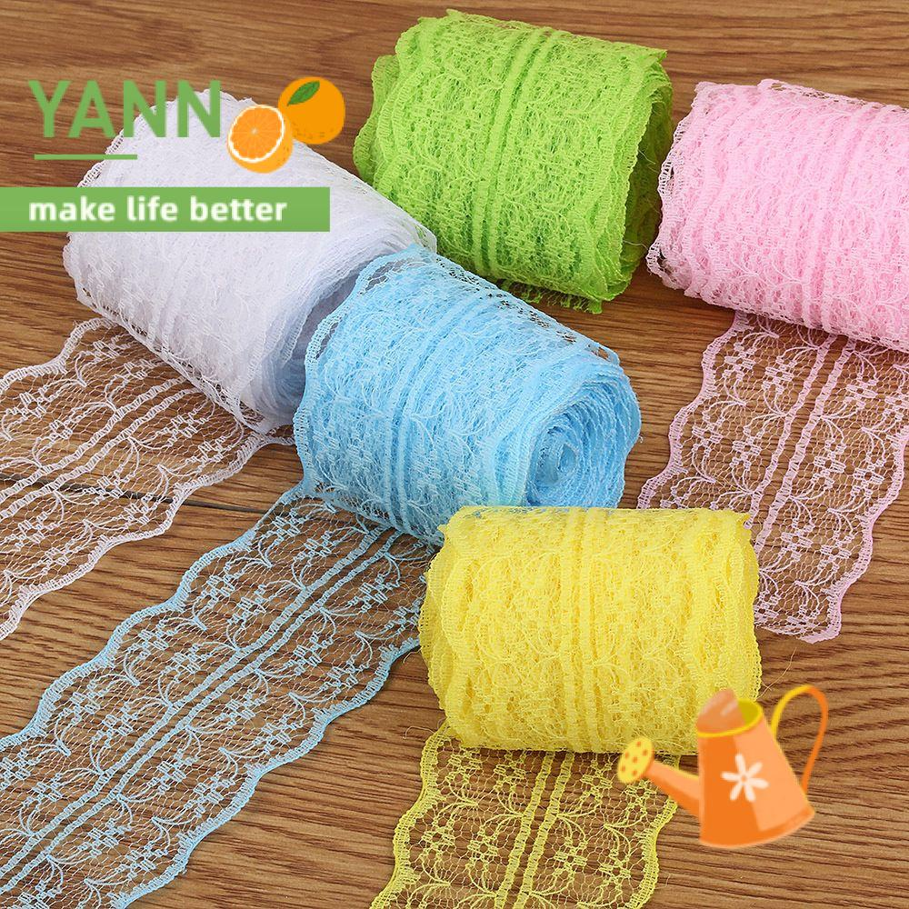 🍊YANN🍊 package lace decoration manual Lace pattern material color Warp knitting Polyester Yarn Webbing/Multicolor