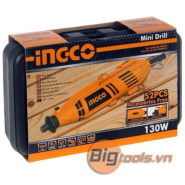 3.2mm Bộ máy khoan, mài mini 130W INGCO MG1308