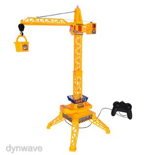 Wired Remote Control Tower Crane with Up Down Lift Control and 360 Rotation