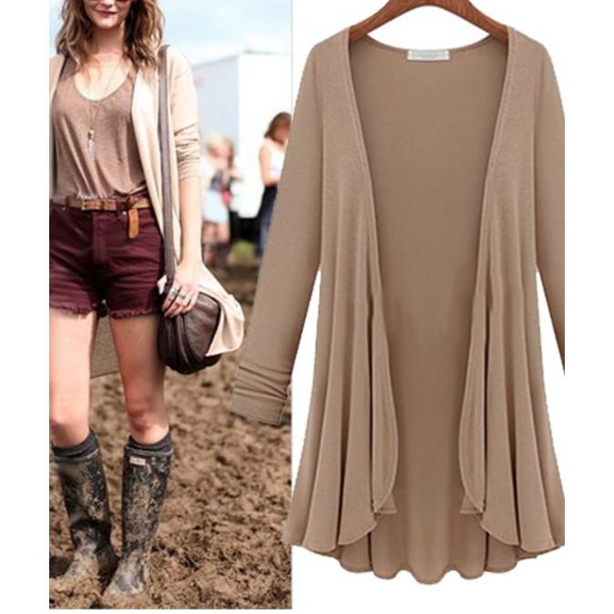 Áo khoác mỏng dáng dài rộng thời trang cho nữ - 22706850 , 1062682068 , 322_1062682068 , 155000 , Ao-khoac-mong-dang-dai-rong-thoi-trang-cho-nu-322_1062682068 , shopee.vn , Áo khoác mỏng dáng dài rộng thời trang cho nữ