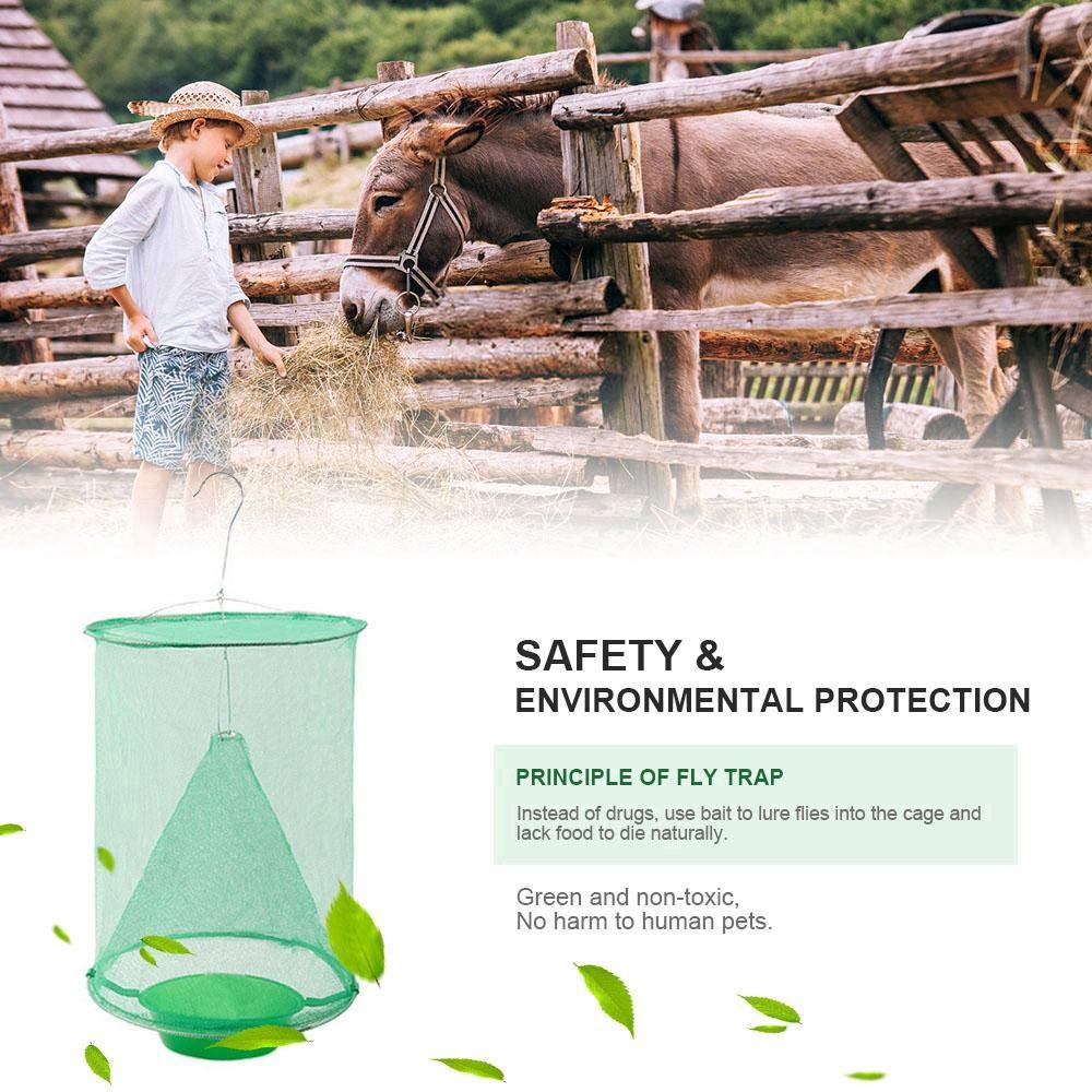 4 Pcs Reusable Green Fly Catcher Killer Cage Net Trap Insert Bug
