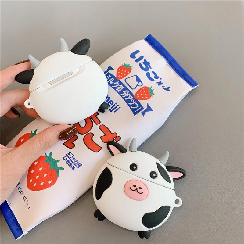 """☘️ Case Airpods """"Bò Sữa"""" đựng tai nghe không dây Airpods 1/2 và i11 i12 i18 i100 ..."""