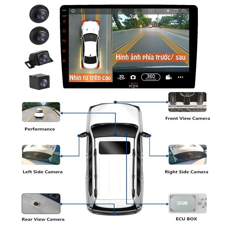 Bộ kết hợp màn hình DVD Android và Camera hành trình 360 độ cao cấp 2 trong 1 dùng cho xe ô tô - Bảo hành 12 tháng