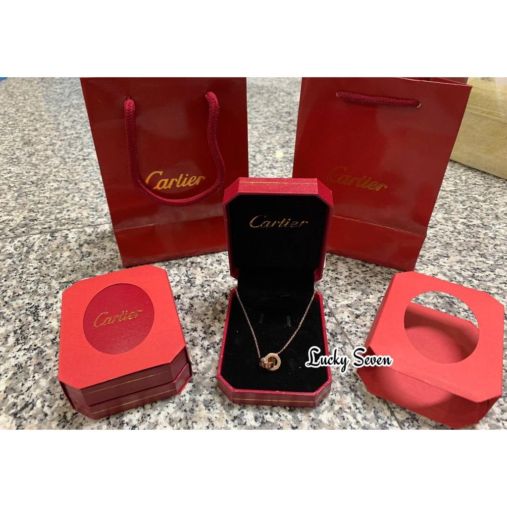 เซตของขวัญ สร้อยคอ Cartier แหวนคู่