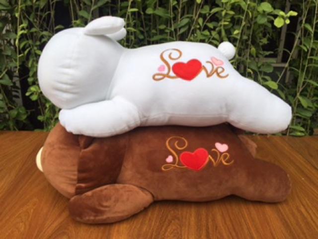 Gấu gối bông thỏ Cony gấu Brow